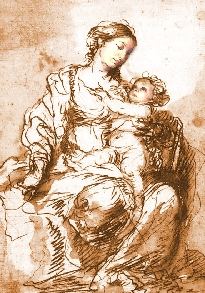 Madonna and Child ~ created by ViaRosa from original studies by Murillo ~ copyright 2008-2012