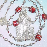 Divine Mercy Chaplet ~ Via Rosa ~ pearls and lampwork